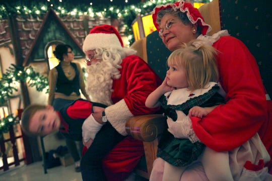 Santa and Mrs. Claus will be greeting kiddies through Sunday at Santa's Magic Forest in Taylor.