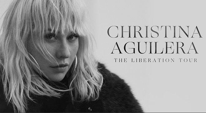 """Christina Aguilera's """"The Liberation Tour,"""" which was originally scheduled for Oct. 13 at the Fox Theatre and postponed, has been canceled."""