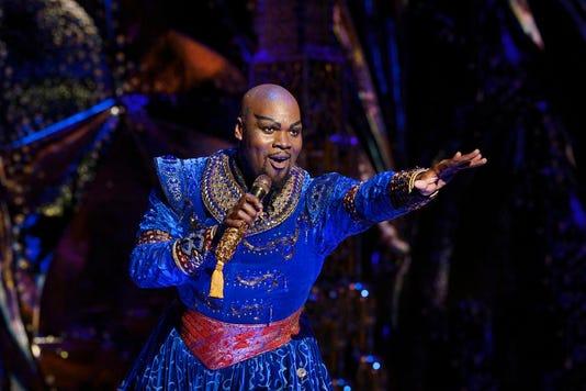 S7 Michael James Scott Genie Aladdin North American Tour Photo By Deen Van Meer