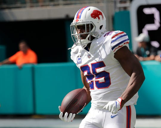 Bills running back LeSean McCoy is on pace for his least productive NFL season, after two straight seasons of at least 1,100 yards rushing.