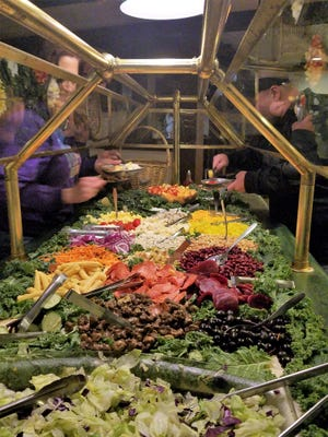 The Cork 'N Cleaver is known for a large salad bar brimming with interesting ingredients.