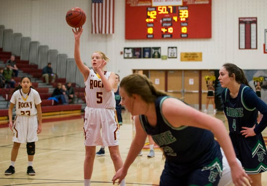 The Rocky Mountain girls basketball team hosts Broomfield at 6:30 p.m. Friday.