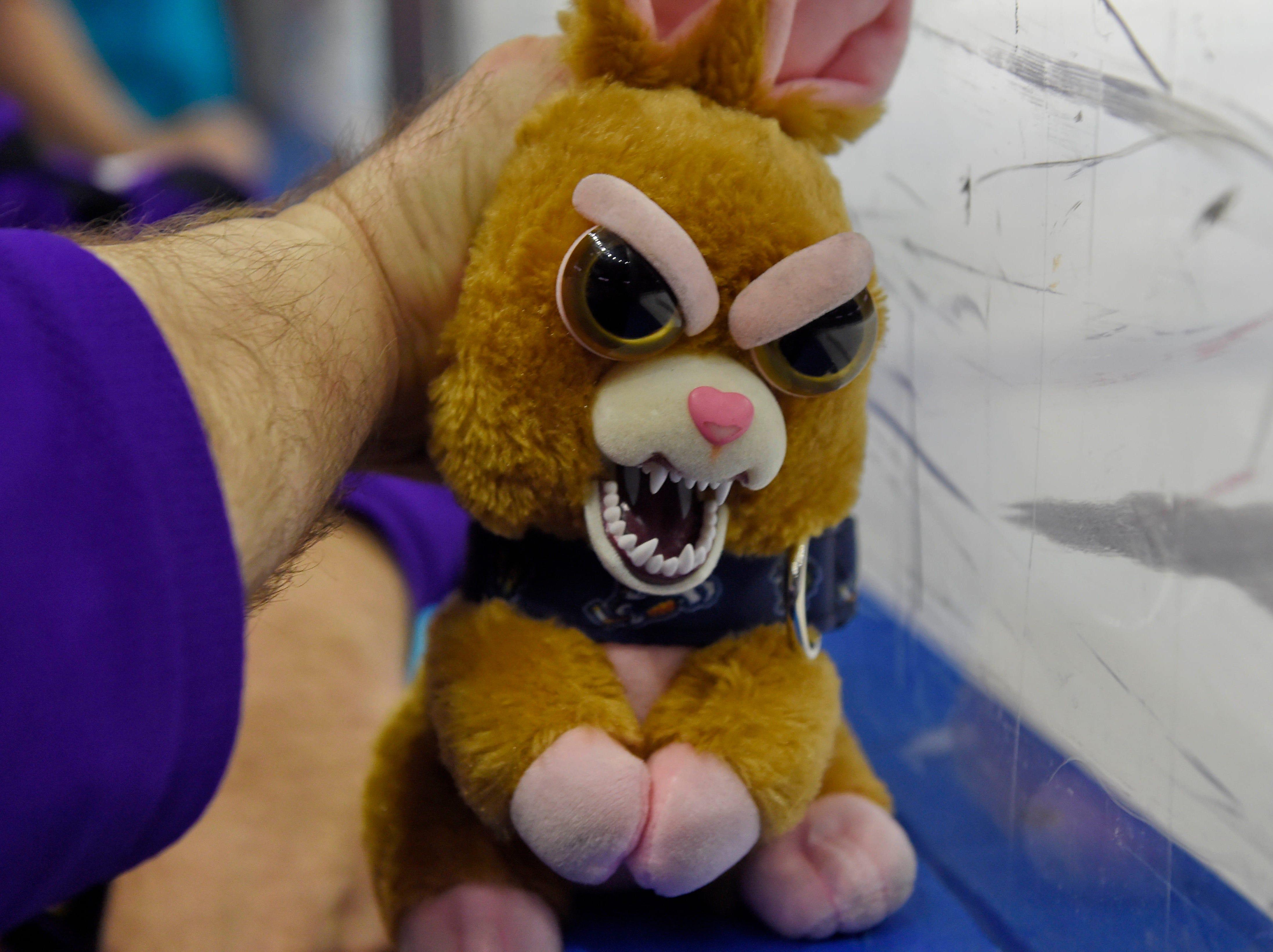 The Greenville Swamp Rabbits held their annual Teddy Bear Toss Friday, September 7, 2018.