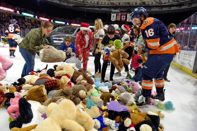 The Greenville Swamp Rabbits held their annual Teddy Bear Toss Friday, September 7, 2018.