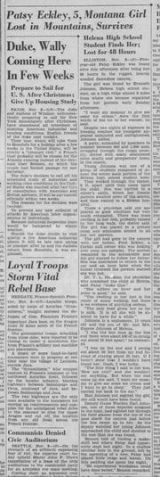 From the Great Falls Tribune, Nov. 10, 1937.