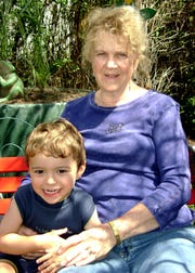 Patsy (Eckley) Hall and one of her great-grandchildren.