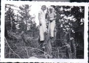 Patsy Eckley, right, and her sister Alice are pictured in the mountains.