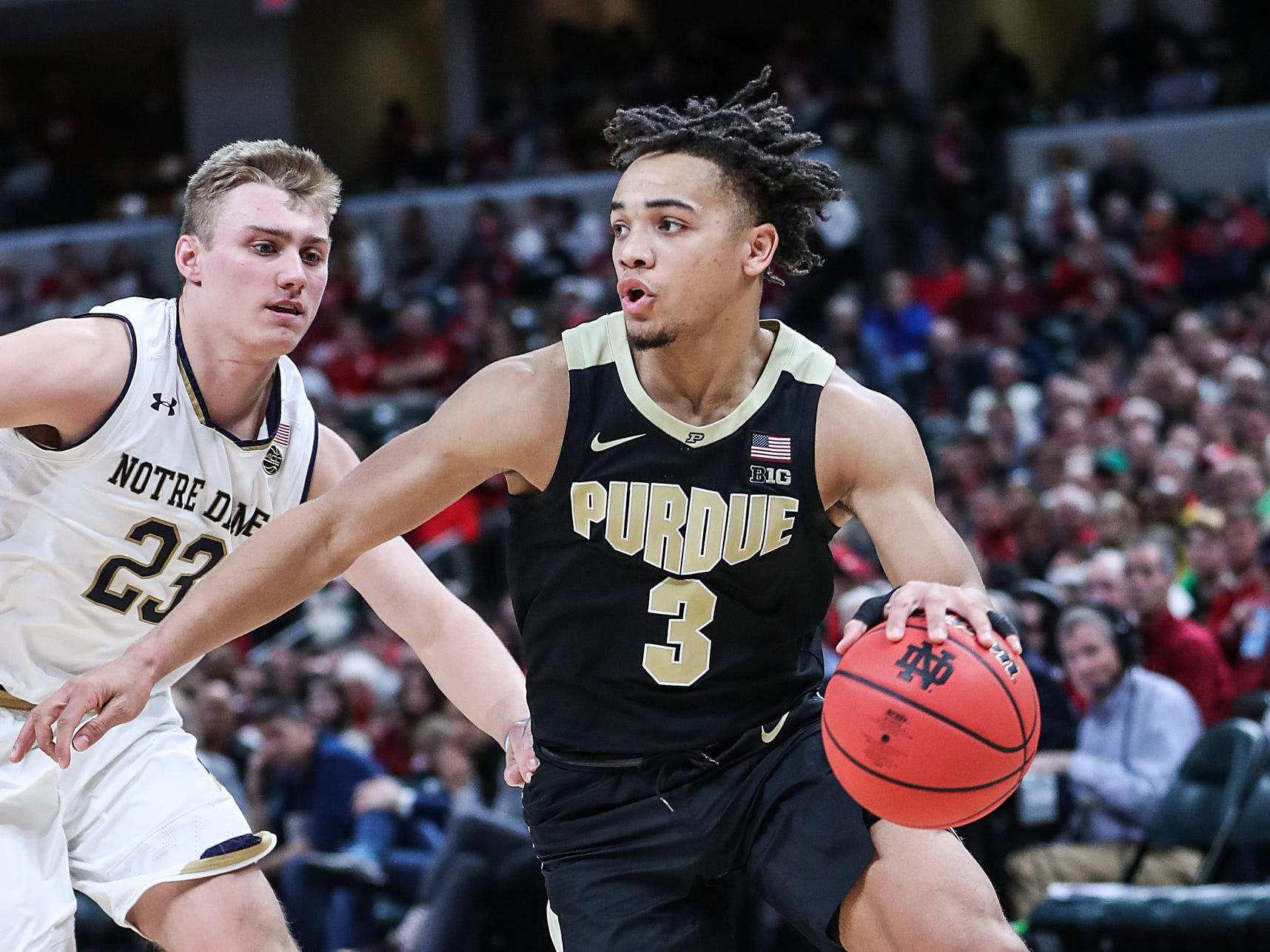 Purdue guard Carsen Edwards scored 27 points, but didn't get much help.