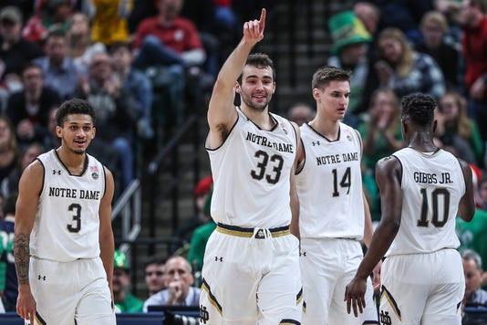 Purdue Boilermakrers Versus Notre Dame Fighting Irish In Crossroads Classic At Banker S Life Fieldhouse In Indianapolis Saturday Dec 15 2018