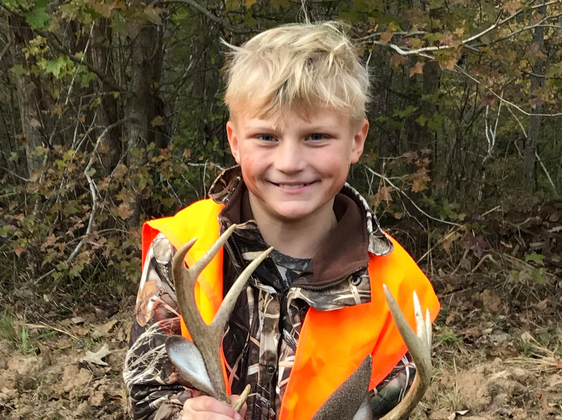 Tristan Jamison, 9, of Vicksburg, harvested a 150-pound 8-point this season.