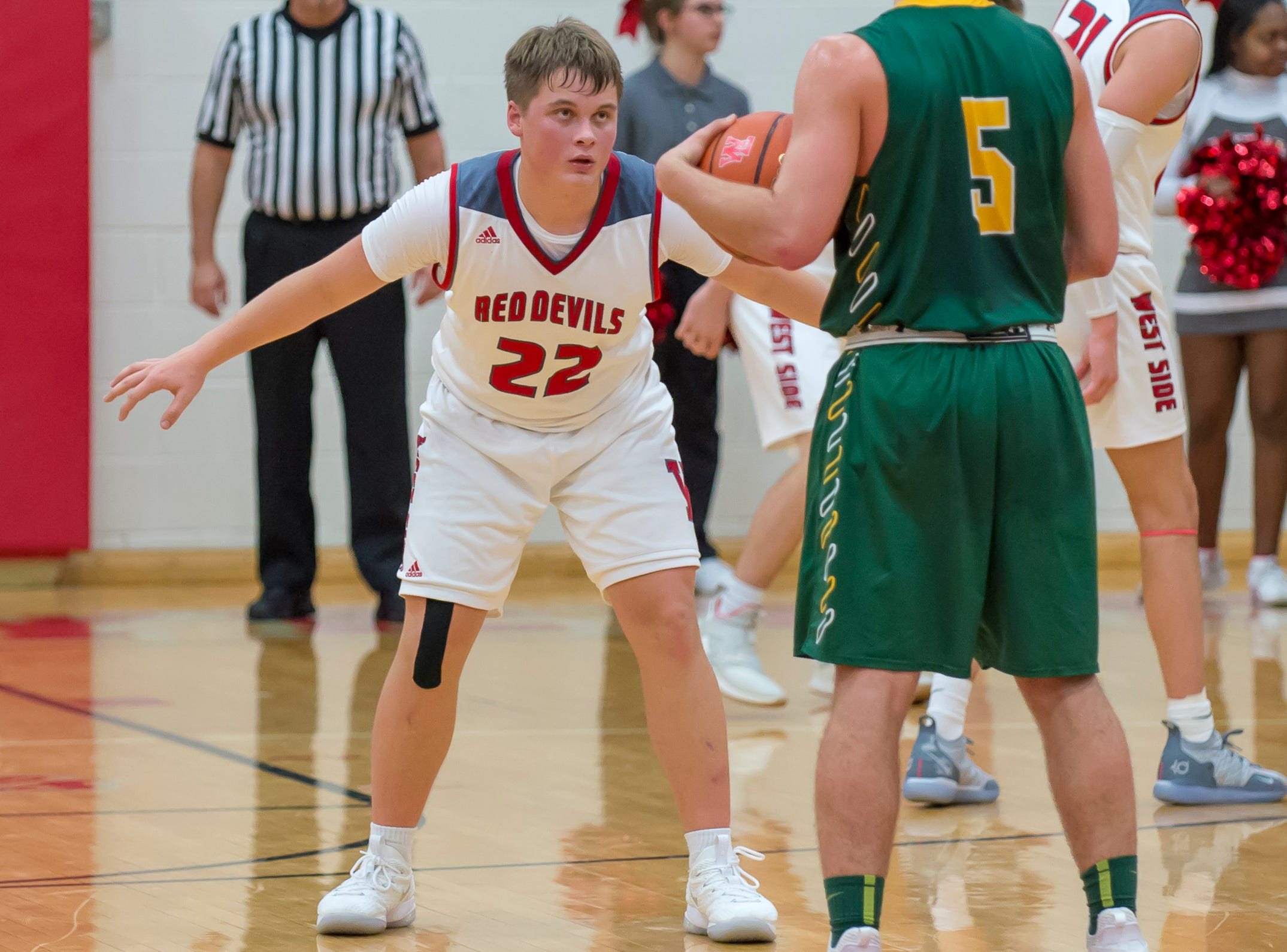 Action from the Benton Central at West Lafayette basketball game on December 14, 2018 - Colin Martin