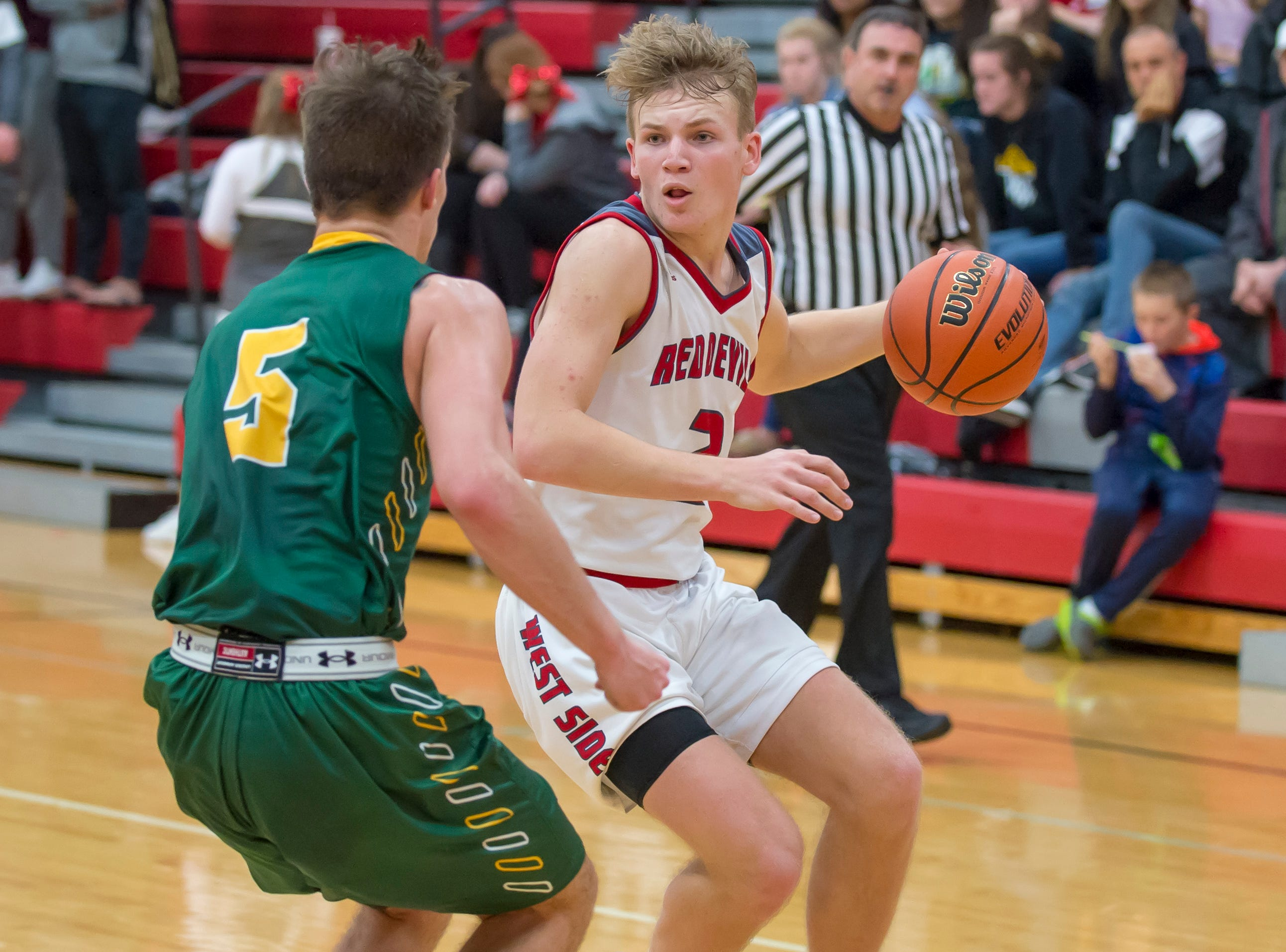 Action from the Benton Central at West Lafayette basketball game on December 14, 2018 - Tyler Boyle