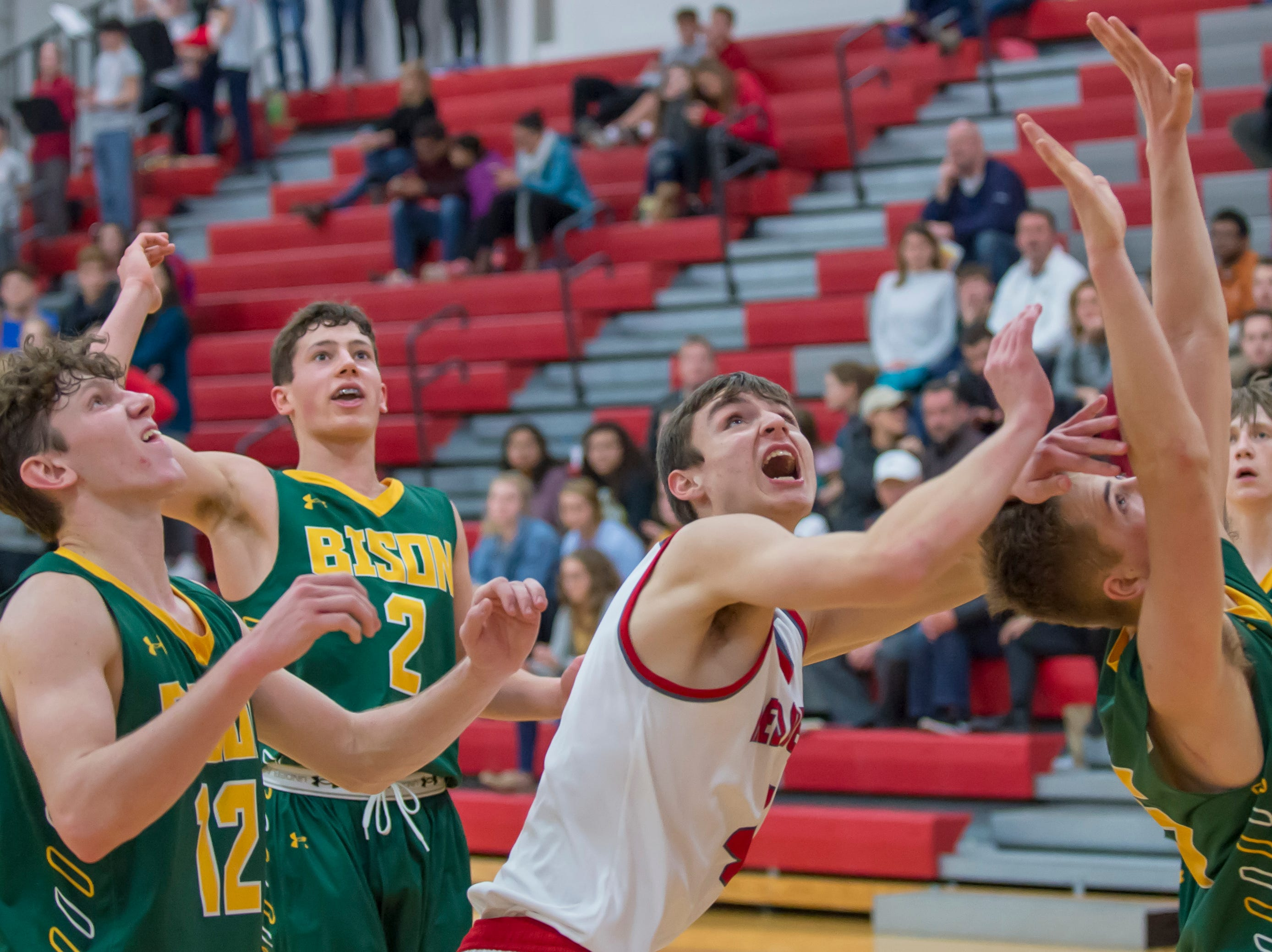 Action from the Benton Central at West Lafayette basketball game on December 14, 2018 - Will Lasater