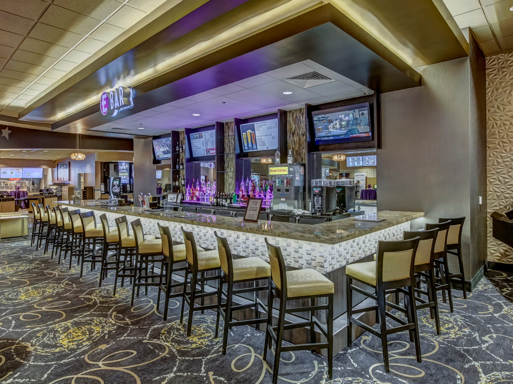 Emagine Entertainment's new movie theater Emagine Hartland features a full-service bar, shown Friday, Dec. 14, 2018.