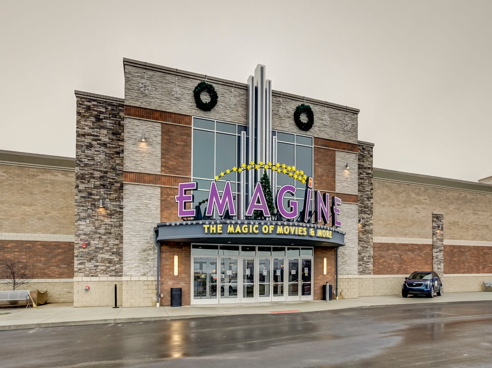 The main entrance to Emagine Entertainment's new movie theater Emagine Hartland is shown Dec. 14, 2018.