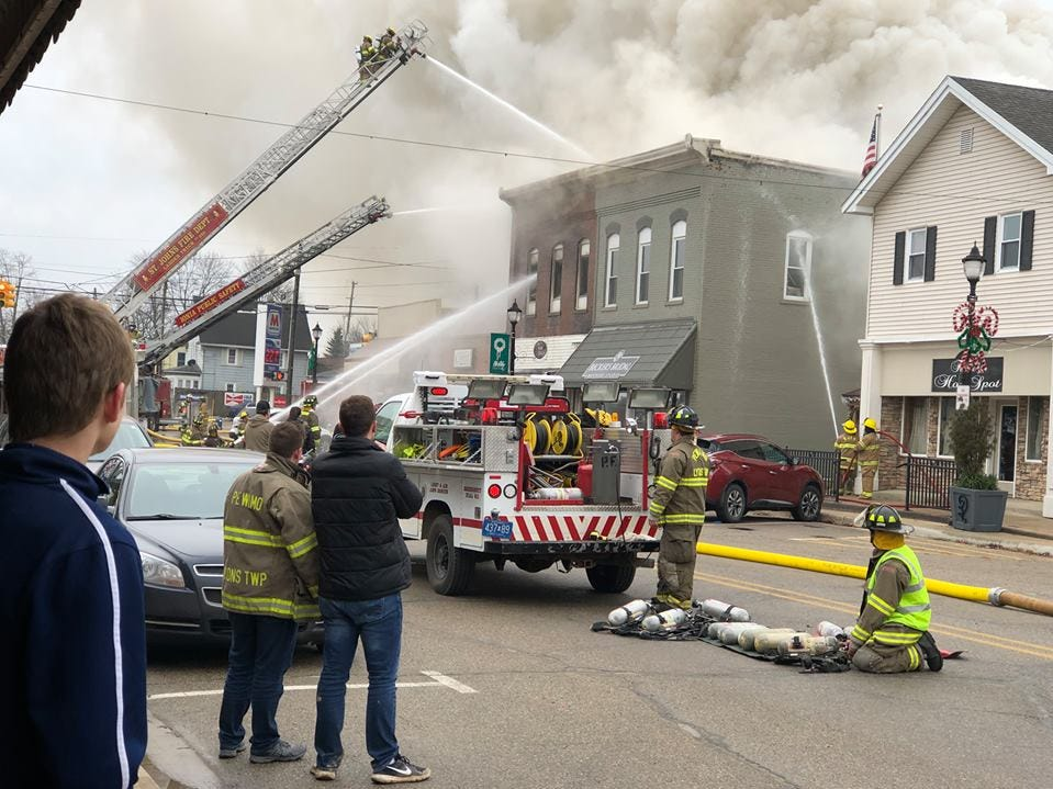 Several departments responded to a structure fire in downtown Fowler on Saturday, Dec. 15.
