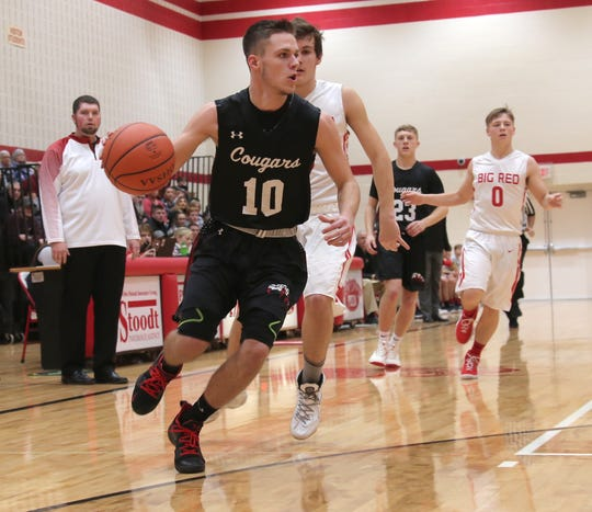 Crestview's Brevin King led the Cougars to a 4-18 record and a No. 11 finish in the Richland County Boys Basketball Power Poll.