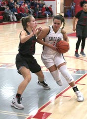 Shelby's Sydnie Seibert helped the Lady Whippets remain undefeated on the season with a victory over Buckeye Valley on Tuesday night.