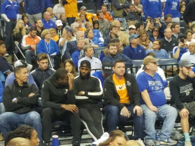 Houston Rockets star Chris Paul joined the thousands in attendance at FedExForum Saturday for the Memphis-UT Vols basketball game.