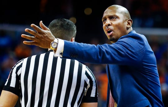 Memphis head coach Penny Hardaway during action against Tennessee at the FedExForum, Saturday, December 15, 2018.