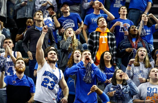 Memphis fans during action against Tennessee at the FedExForum, Saturday, December 15, 2018.
