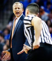 Tennessee head coach Rick Barnes during action against Memphis at the FedExForum, Saturday, December 15, 2018.