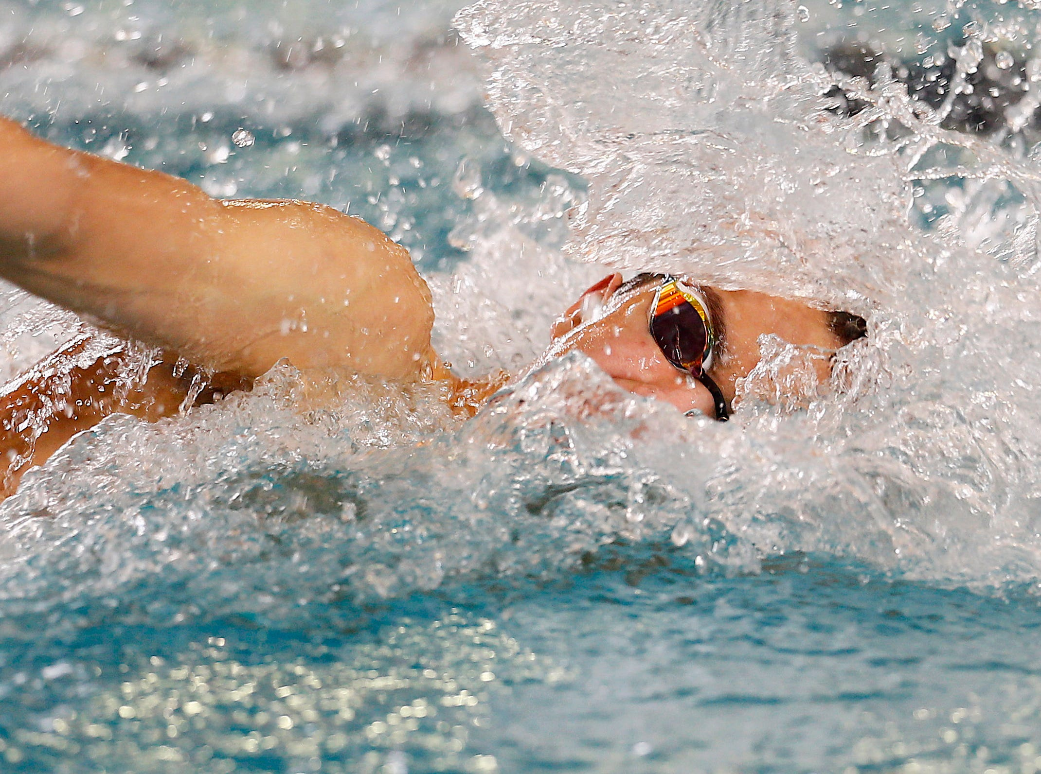 Bridgewater Raritan's Trent Russano swims the freestyle during the boys 200 yard medley relay at the NJSIAA swimming Meet of Champions at the Gloucester County Institute of Technology. March 3, 2018. Sewell, NJ.