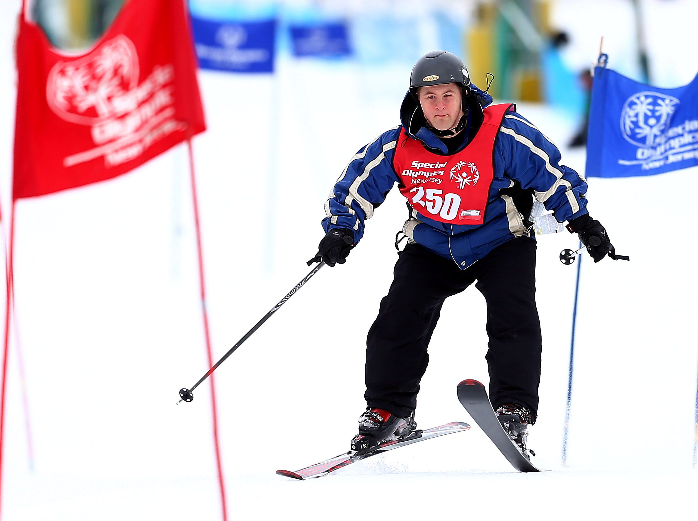 Special Olympics athlete Todd Gensheimer of Warren competes in the Giant Slalom at Mountain Creek during the Special Olympics New Jersey Winter Games. February 6, 2018. Vernon Twp, NJ.
