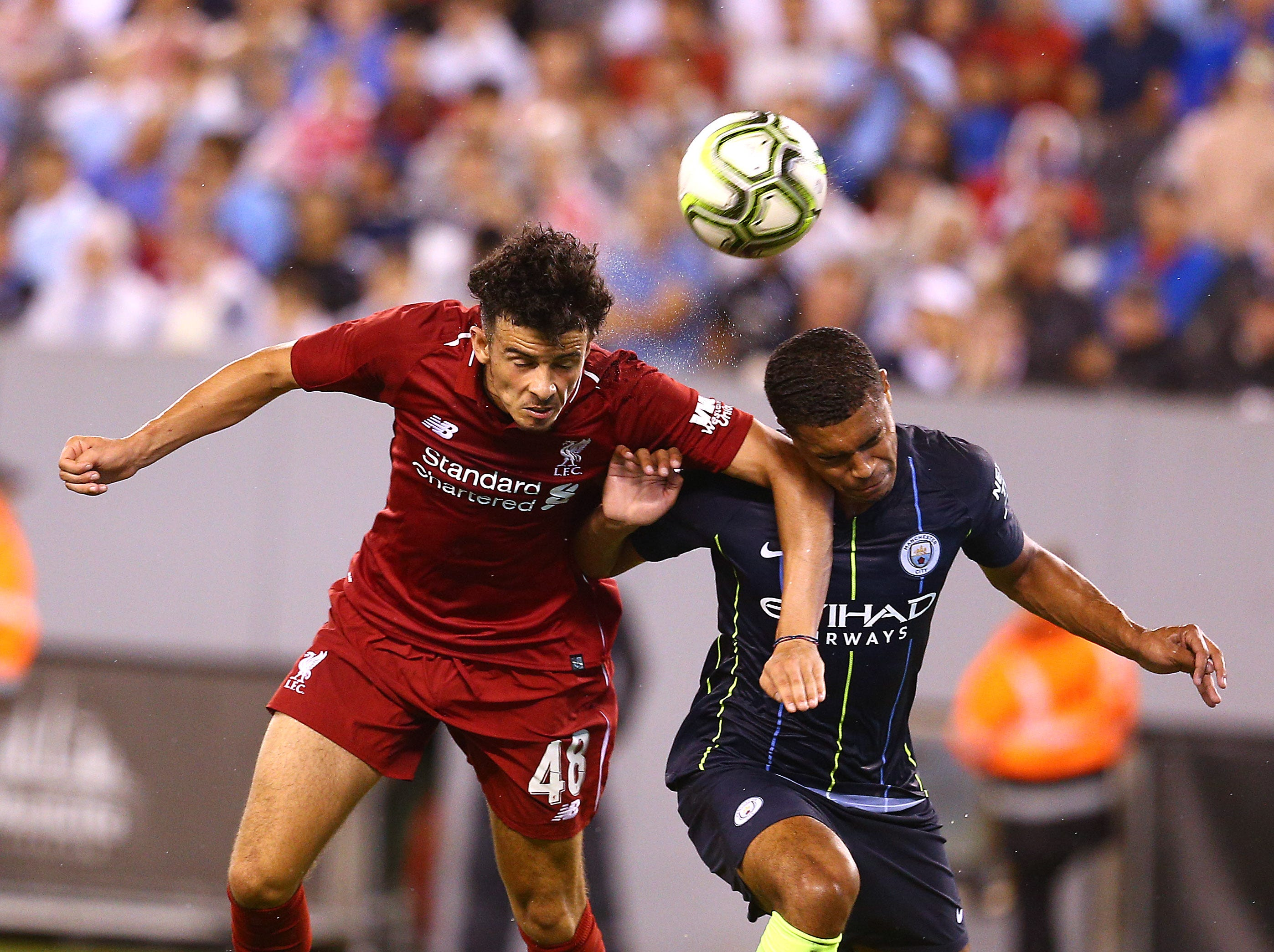 Premier League's Liverpool F.C. vs. Manchester City as part of the International Champions Cup at MetLife Stadium. July 25, 2018. East Rutherford, NJ