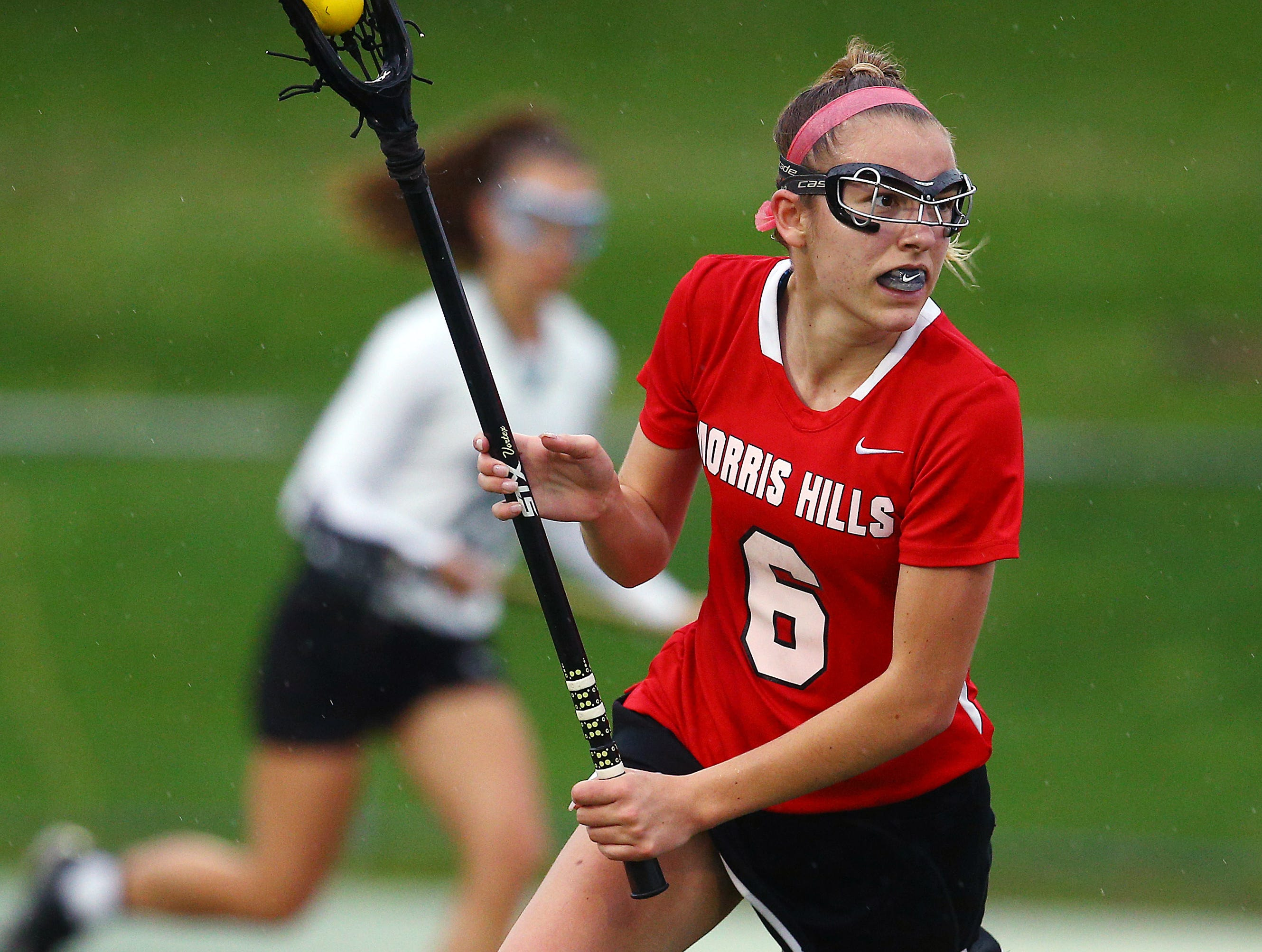 Morris Hills Mackenzie Hurt vs. Montville in NJSIAA North 1 Group III opening-round game. May 16, 2018. Montville, NJ