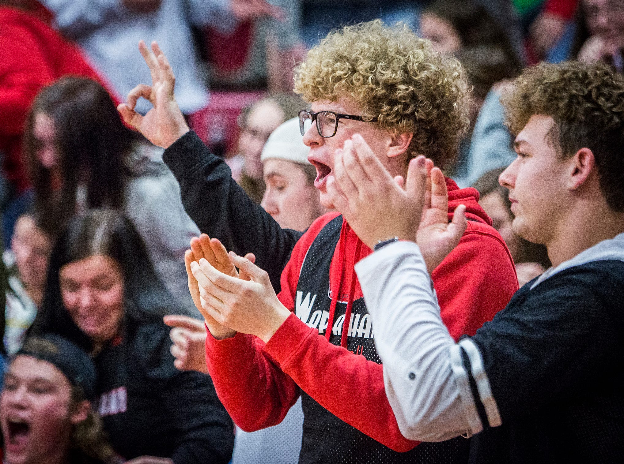 Wapahani faces off against Wes-Del during their game at Wapahani High School Friday, Dec. 14, 2018.
