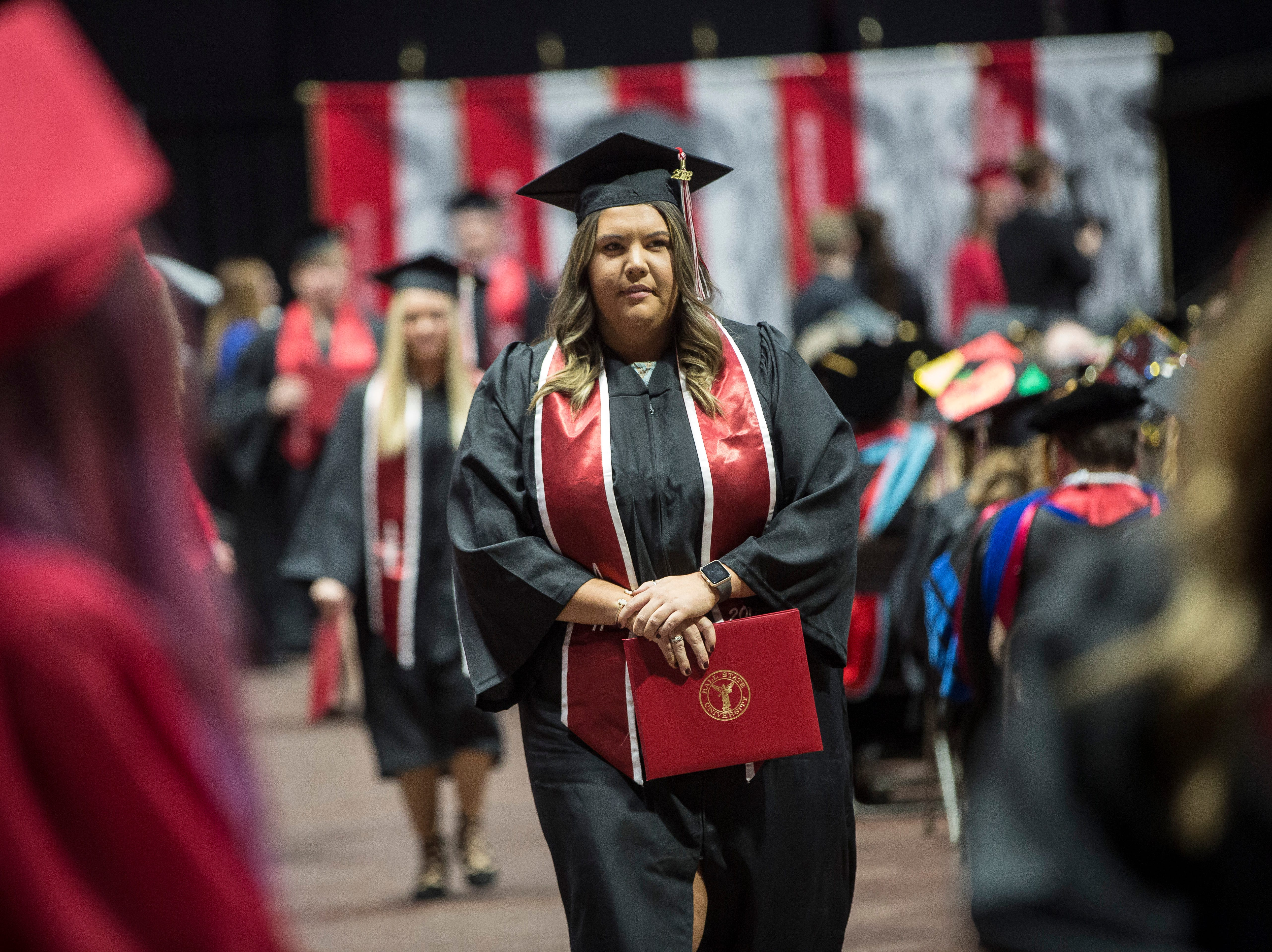 Hundreds of students take part in the 184th commencement ceremony on Saturday at Worthen Arena.