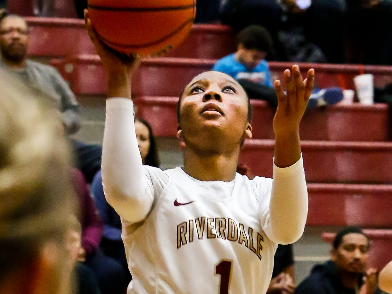 Riverdale's Alasia Hayes goes up for a layup.