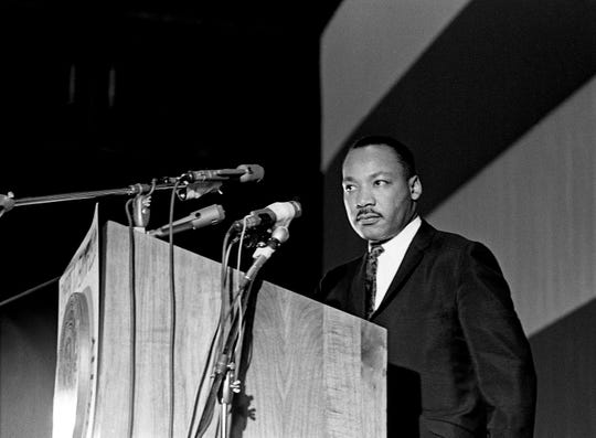"Dr. Martin Luther King Jr. said he was ""convinced"" that the best route to a true integration was nonviolence in his speech during Vanderbilt University's Impact symposium at Memorial Gym April 7, 1967."