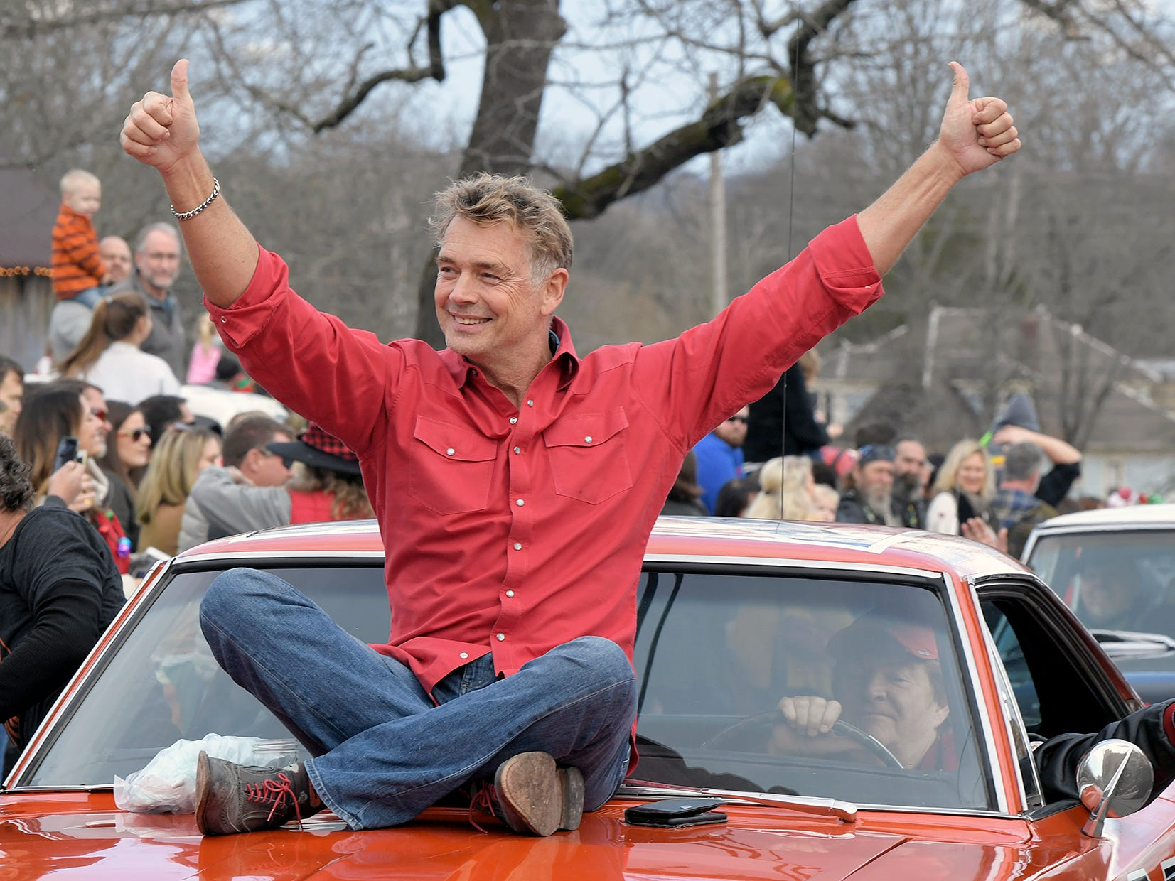 John Schneider from the Dukes of Hazzard was the Grand Marshal of Leipers Fork Christmas Parade on Saturday, Dec. 15, 2018.