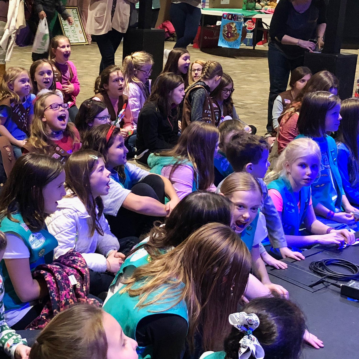 Girl Scouts from all over Williamson County join...