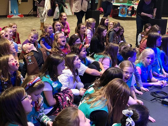 Girl Scouts ramp up for 2019 cookie sales at a Cookie Rally in Spring Hill earlier this month.
