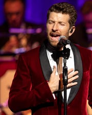 Brett Eldredge performs at the CMA Theater at the Country Music Hall of Fame and Museum in Nashville, Tenn., Friday, Dec. 14, 2018.