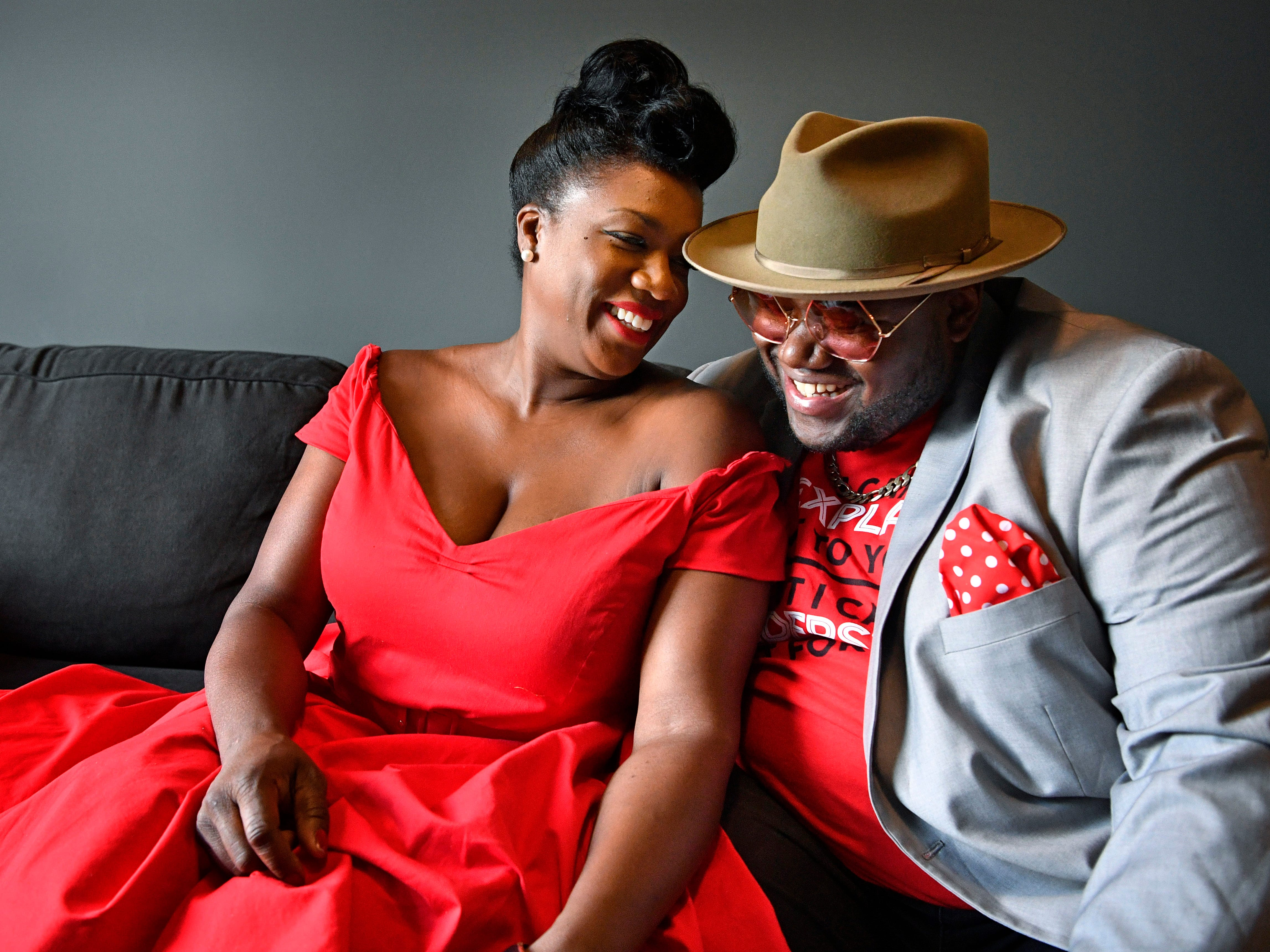 Americana duo The War and Treaty-- husband and wife Michael and Tanya Trotter -- photographed Tuesday, July 24, 2018, in Nashville, Tenn.