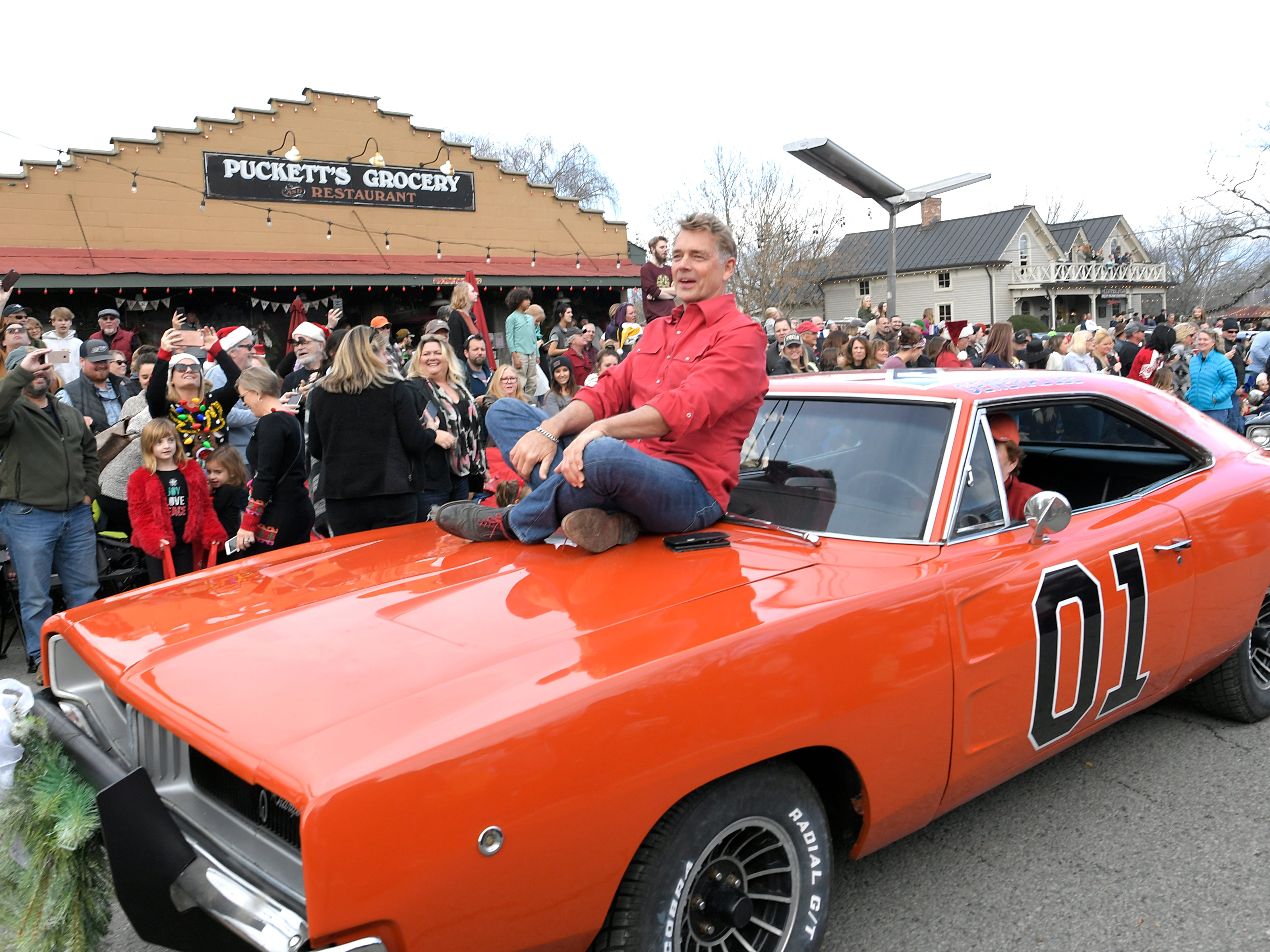 John Schneider from the show the Dukes of Hazzard was the Grand Marshal of Leipers Fork Christmas Parade on Saturday, Dec. 15, 2018.