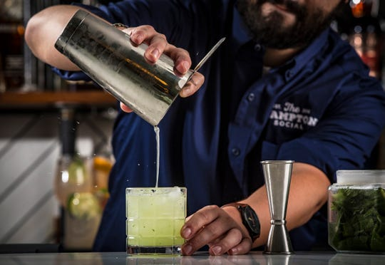 Fresh Pond Bay cocktail at The Hampton Social, opening in December 2018 at Mercato in North Naples.