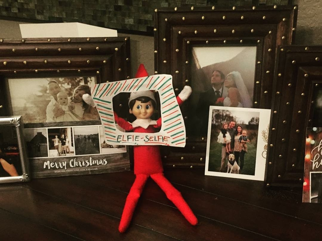 Arese the elf is visiting Audrey and Ayden Revehl.