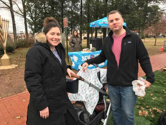Aletta and Andrew Haner of Allendale visits the Ridgewood Santa on Saturday, Dec. 15, 2018