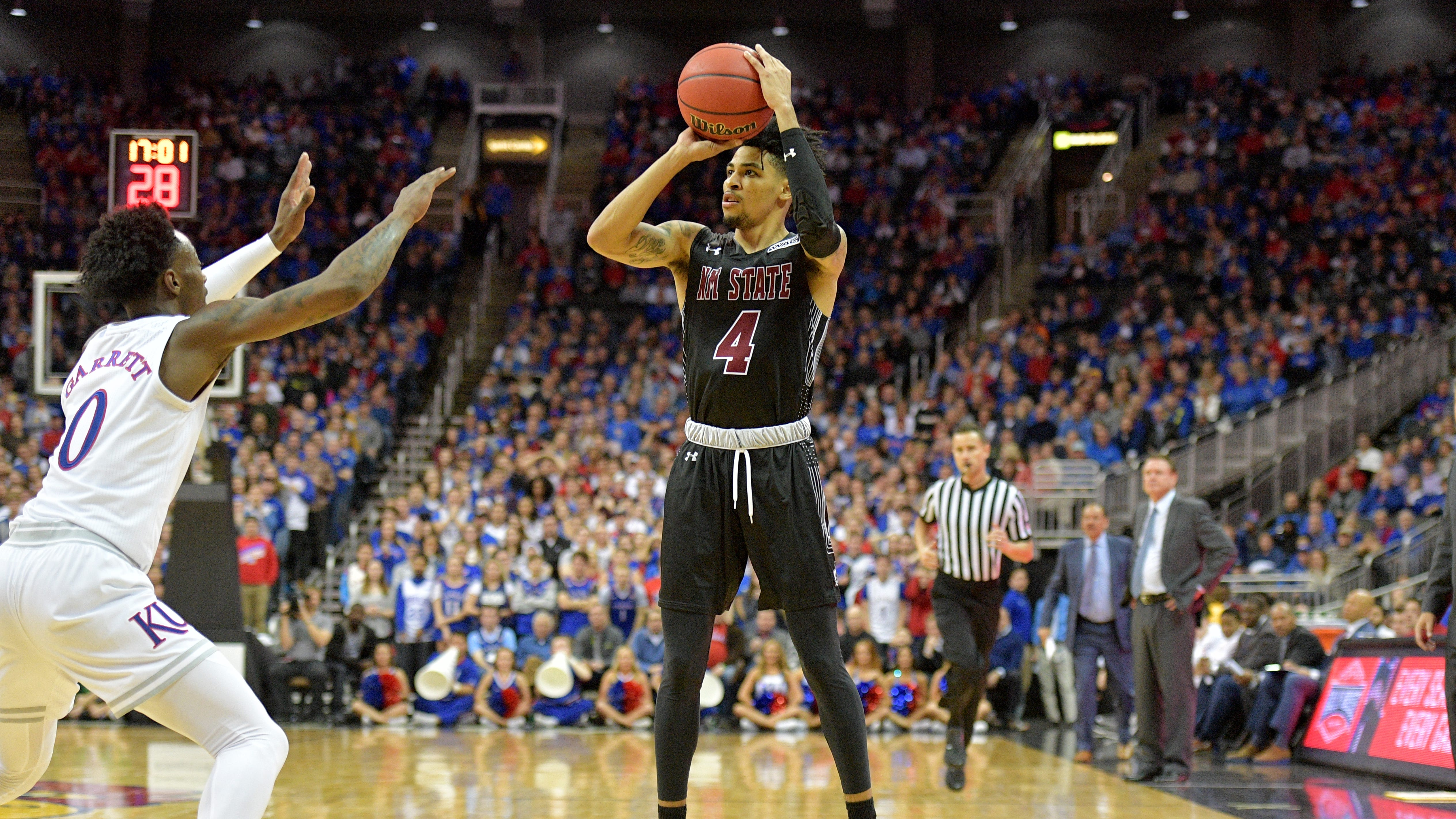 New Mexico State guard JoJo Zamora and the Aggies host Northern Colorado on Monday at the Pan American Center.