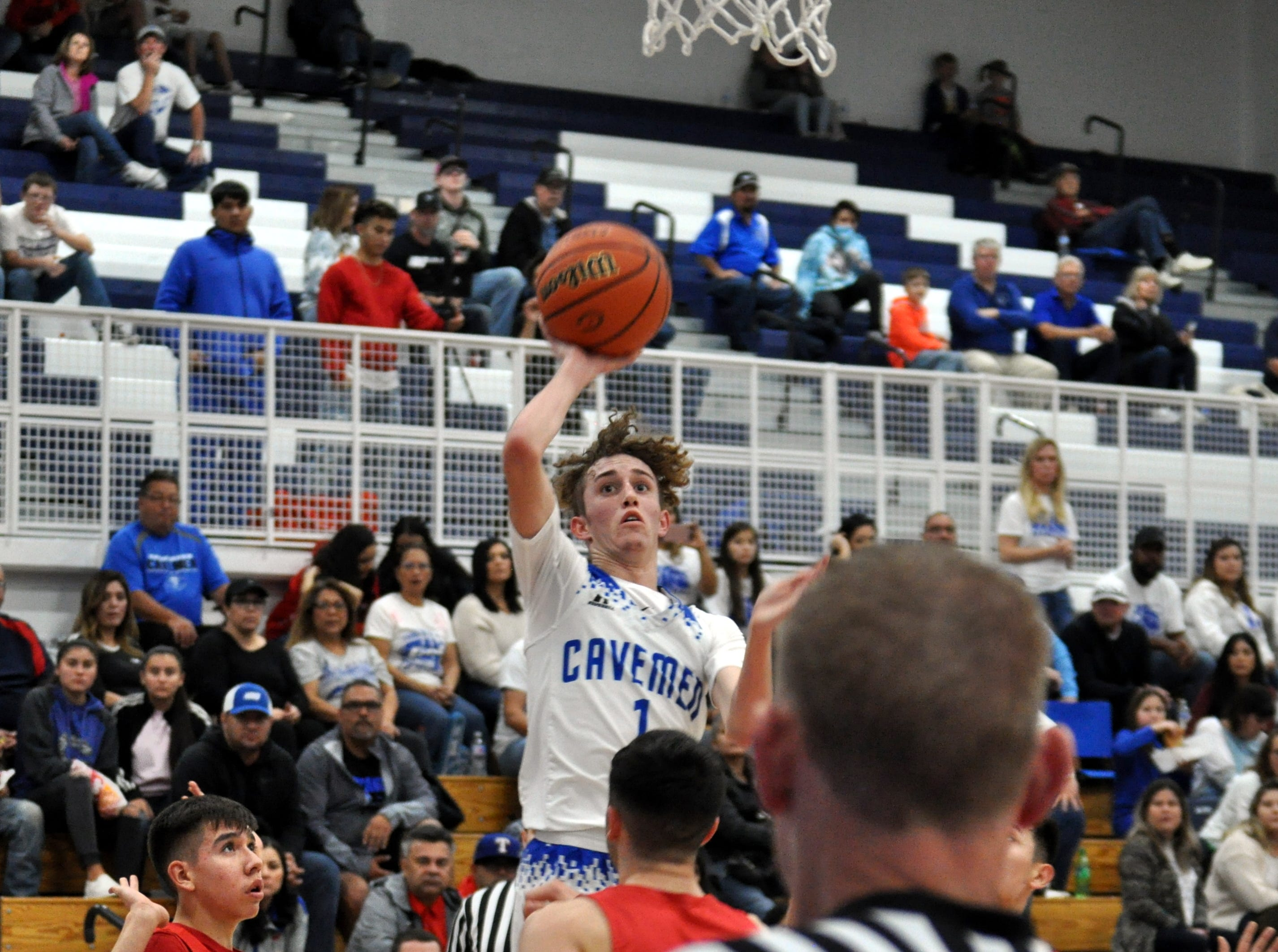 Josh Sillas gets off an shot during Friday's game against West Mesa.