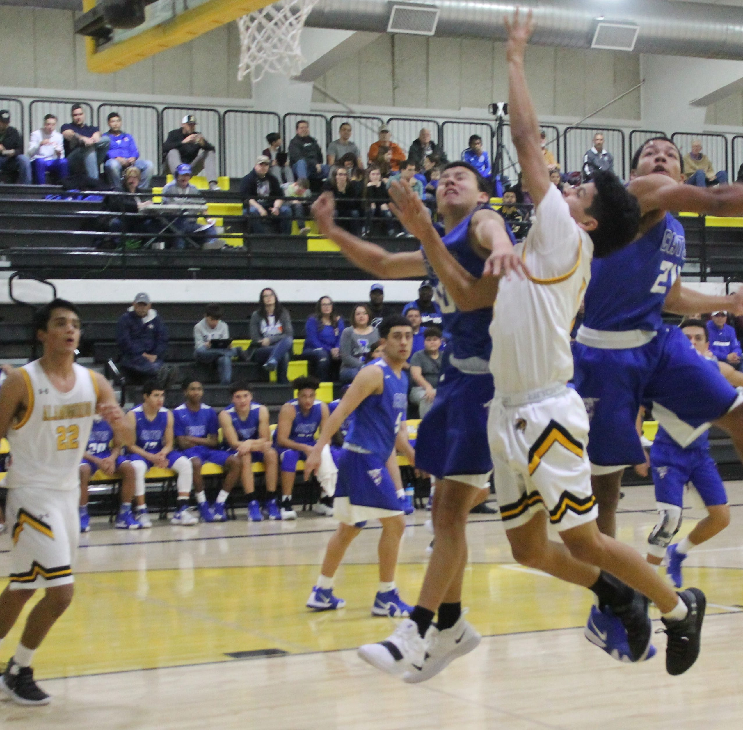 Alamogordo loses 63-47 in a rough 'n' tumble game against Lovington