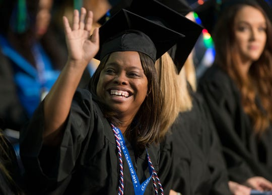 The University of West Florida holds its 2018 fall commencement in December at the Pensacola Bay Center.