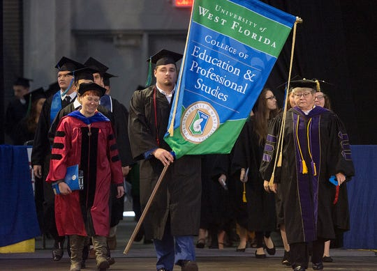 The University of West Florida celebrated its 100,000th degree during its commencement ceremony in December at the Pensacola Bay Center.