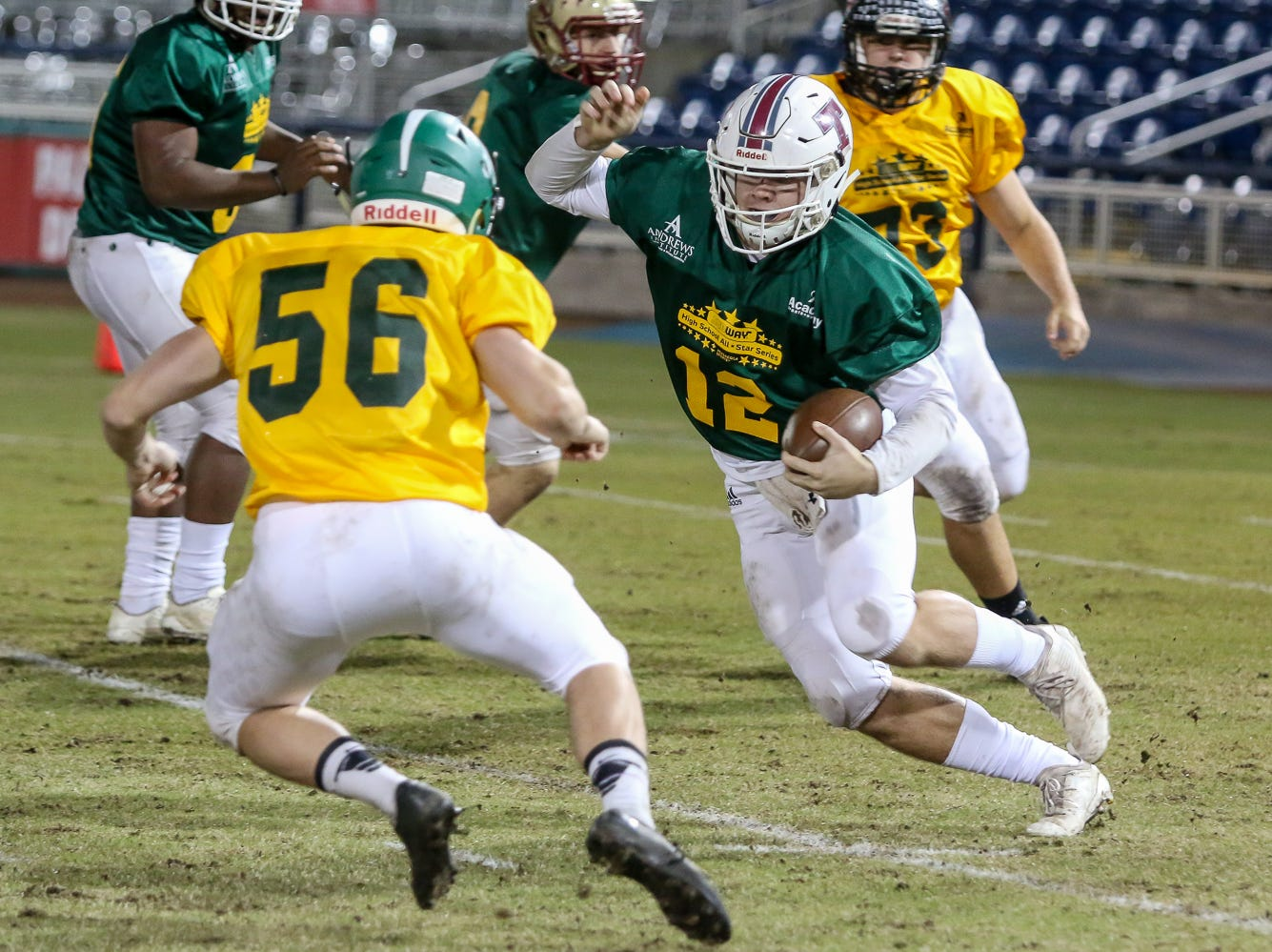West beats East as defenses rule in Subway High School All Star Football game