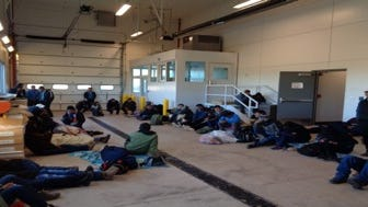 "U.S. Customs and Border Protection provided this photo, which it says depicts the building at the New Mexico port of entry where 7-year-old Guatemalan girl Jakelin Caal Maquin was held before agents learned she was ill. It's unclear if she is in this photo. The agency described the photo as showing ""71 in detention at time."""
